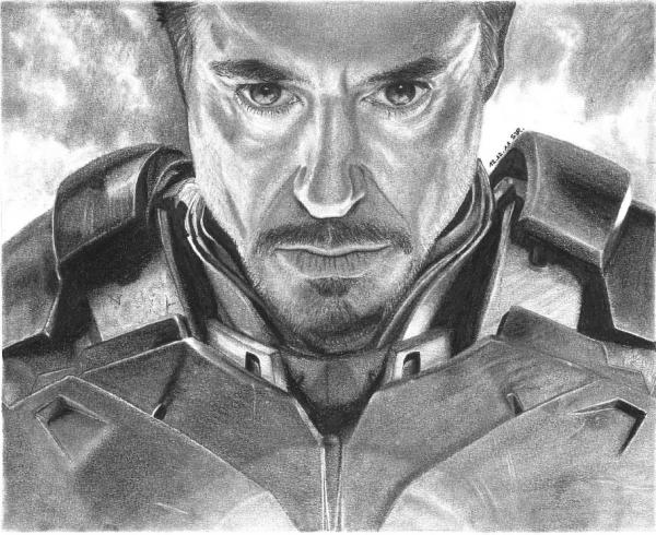 Robert Downey jr Iron Man Drawing Iron Man Robert Downey jr by